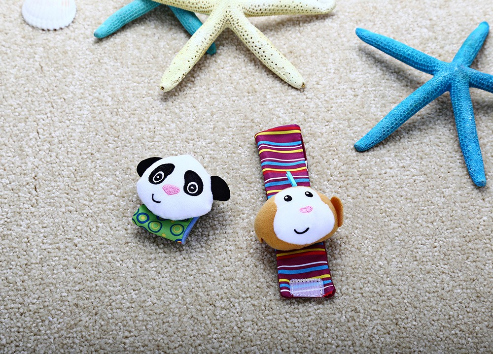 Wrist Rattle Baby Infant Wristband Soft Toy