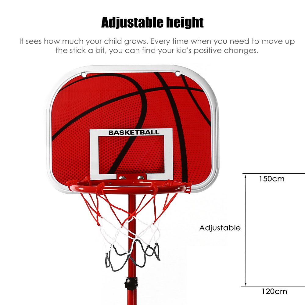120 - 150cm Height Adjustable Basketball Stand for Indoor Outdoor Use