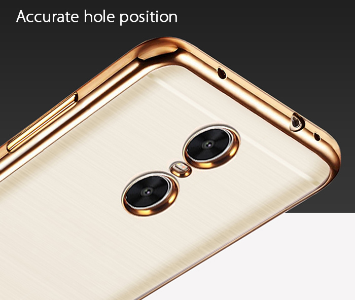 Luanke TPU Soft Protective Case for Xiaomi Redmi Pro Ultrathin Transparent Style Shell with Electroplated Edge