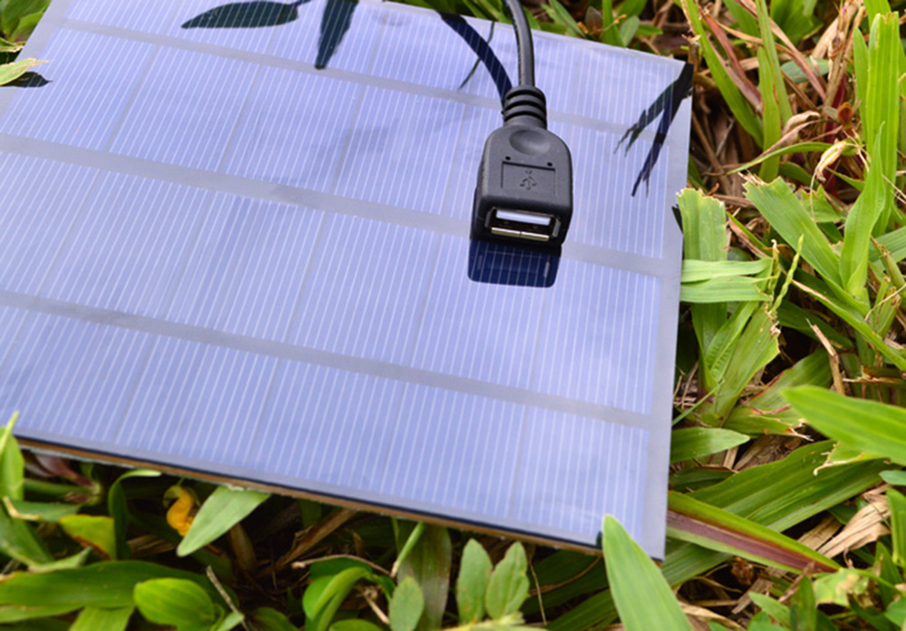SUNWALK 3W 5V Monocrystalline Silicon Solar Charger Panel Outdoor Travel Portable Power Bank with USB Interface