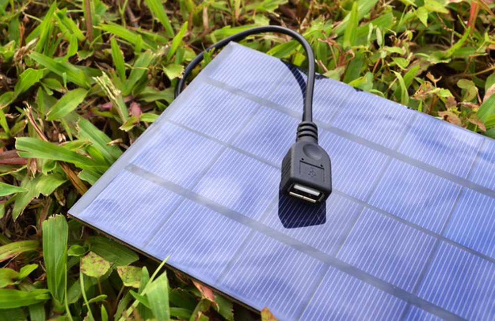 SUNWALK 4W 5V Monocrystalline Silicon Solar Charger Panel Outdoor Travel Portable Power Bank with USB Interface
