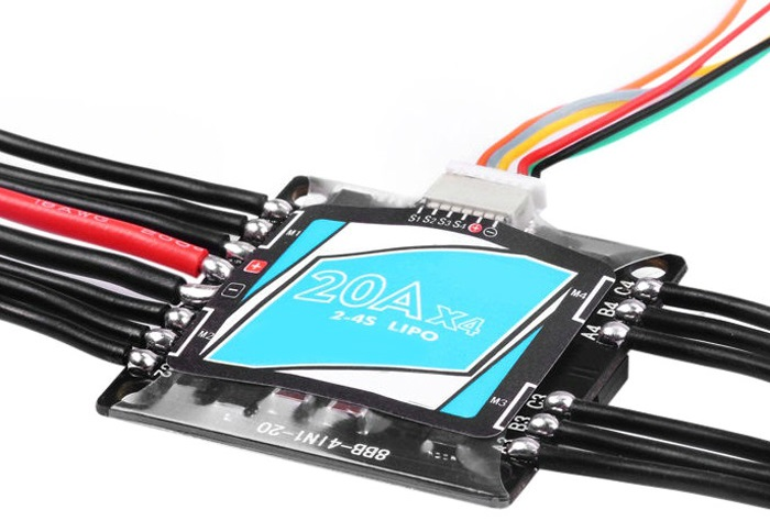 Electric Speed Controller 2 - 4S 4 in 1 20A OPTO Brushless ESC with DShot300 for 210 - 250 Wheelbase Drone