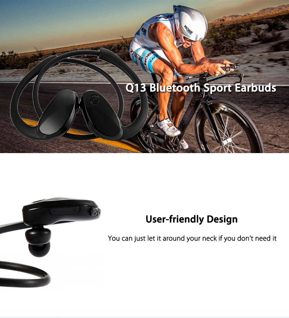 Q13 Bluetooth Runner Earphones Sport Headset with Built-in MIC 6 - 8 Hours Music Time