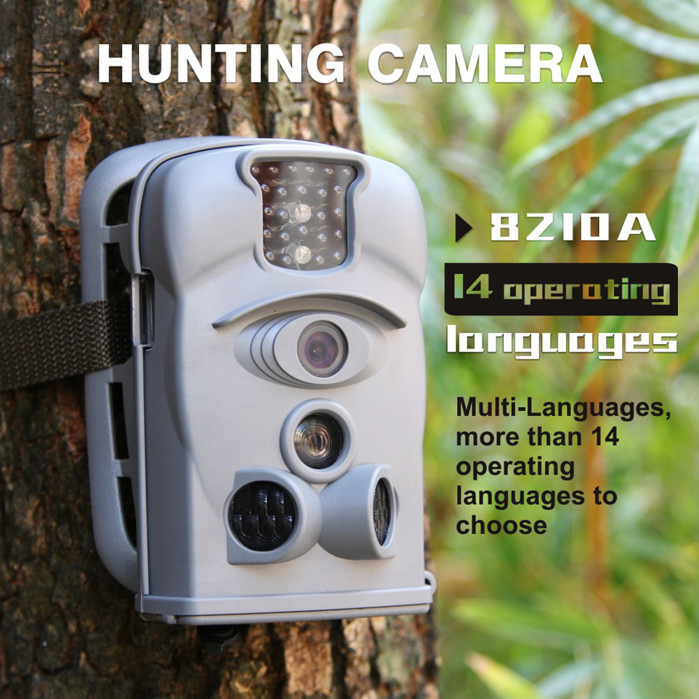Bestok 8210A Wide Angle Lens Night Vision PIR Sensor with 8G SD Card Hunting Trail Camera