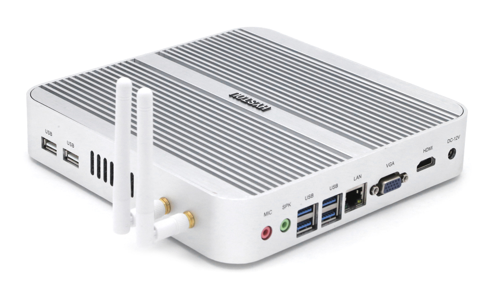 HYSTOU FMP03 Fanless Mini PC Core-i3-5005U Intel HM96 Express with HDMI VGA Output