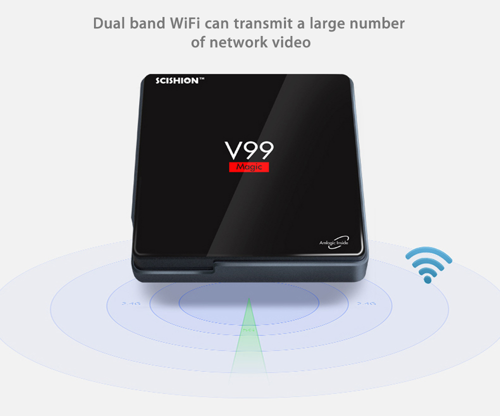 SCISHION V99 Android TV BOX Amlogic S912 Octa Core 2.4G + 5.0G Dual Band WiFi Bluetooth 4.0 Android Media Player