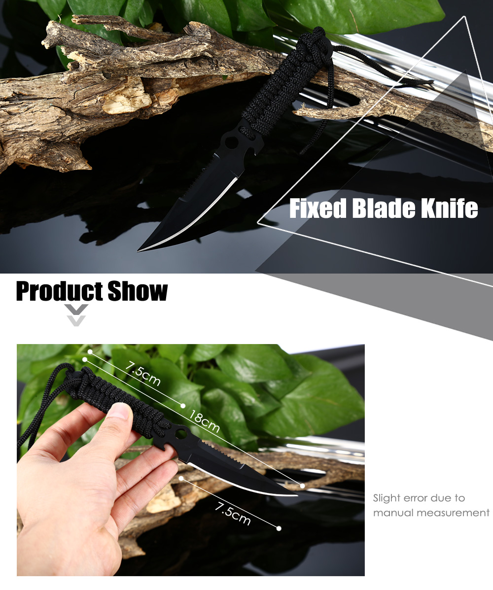 Fixed Blade Knife with Bottle Opener Function for Outdoor Survival
