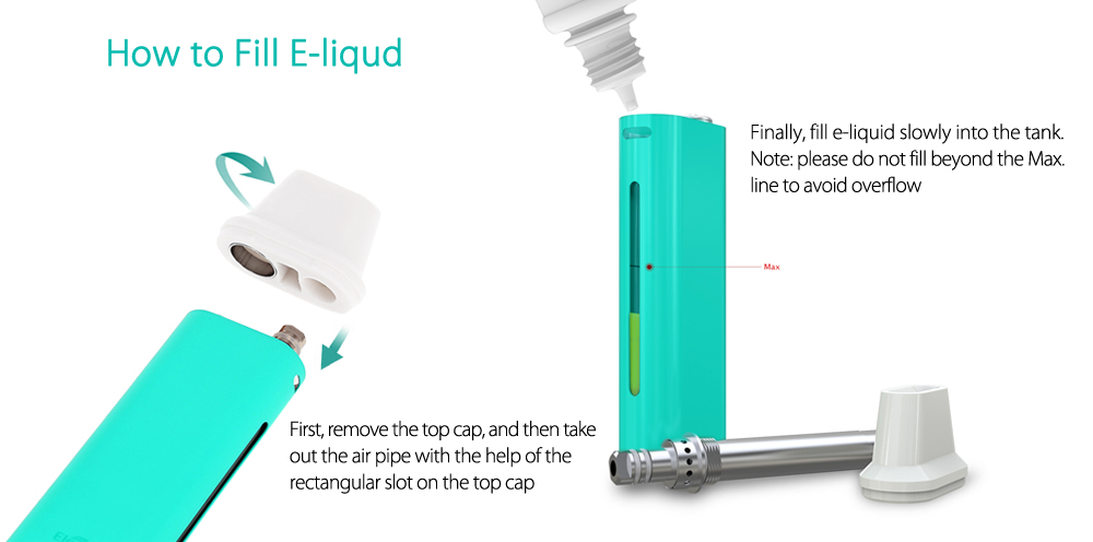 Original Eleaf iCare Mini E Cigarette Starter Kit with Built-in 320mAh Battery / 1.3ml Capacity / Top Filling Design Internal Tank