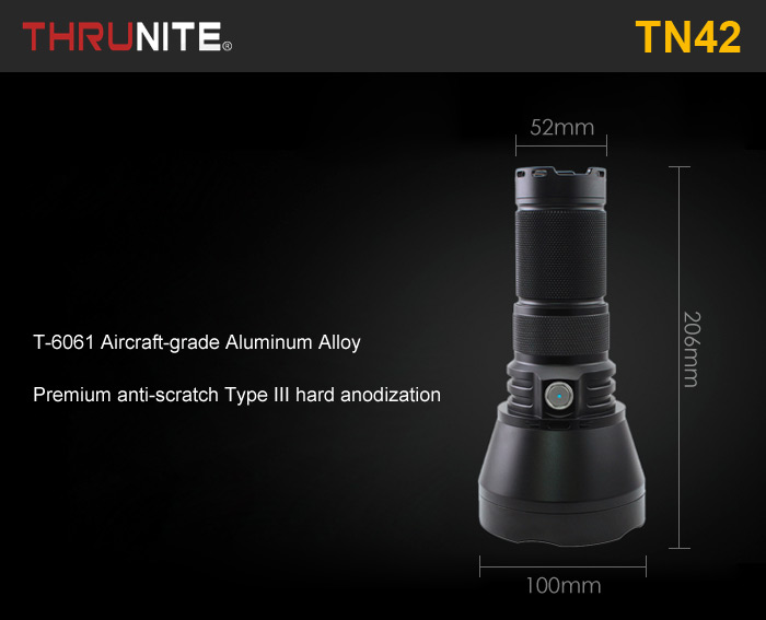 ThruNite TN42 Cree XHP35 HI 2000LM LED Searchlight Memory Function
