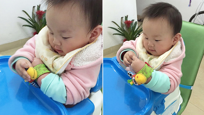 Baby Infant Wristband Soft Toy Wrist Rattle