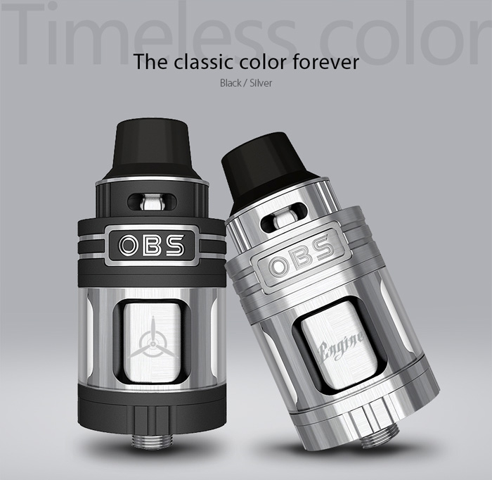 Original OBS Engine RTA 25mm 5.2ml Rebuildable Tank Atomizer with Top Filling Design for E Cigarette