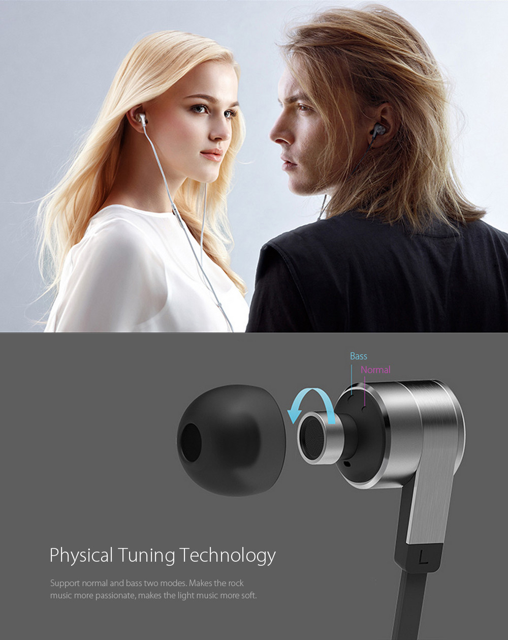 Original Huawei Honor AM13 Dynamic Music In-ear Earphones Noise Canceling Song Switch Volume Control