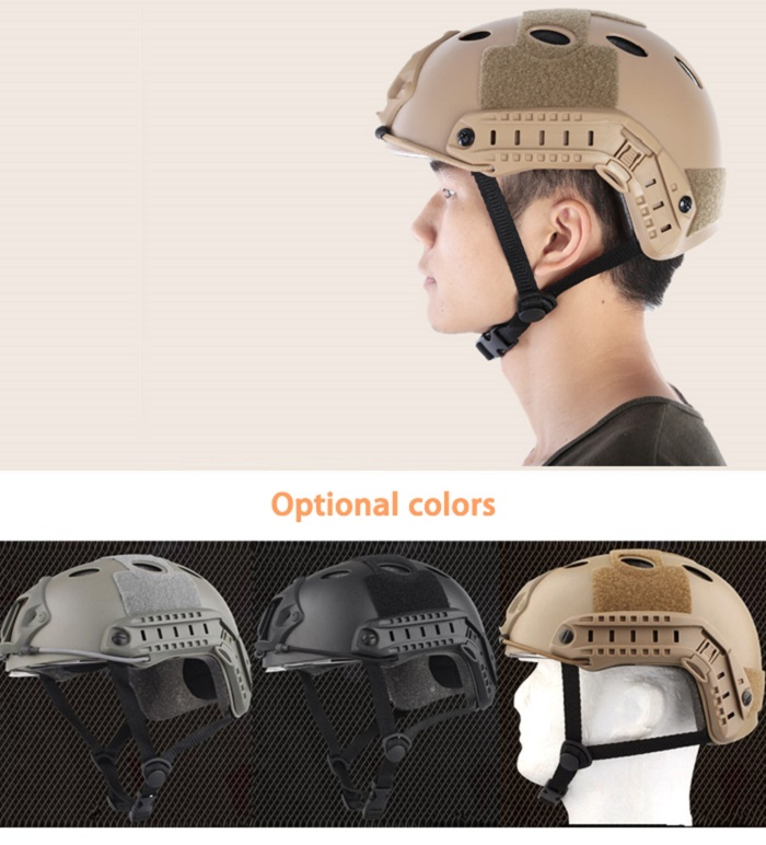 Lightweight Crashworthy Protective Helmet for CS Airsoft Paintball Game