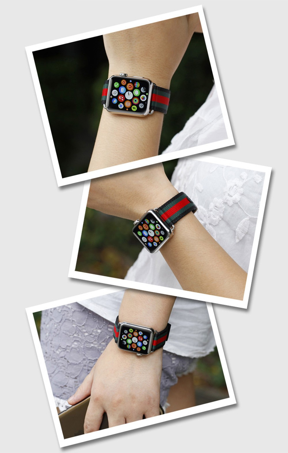 Leisure Colorful Style PU Leather Watchband for Apple Watch 42mm Ultra-thin Strap Wristband Replacement