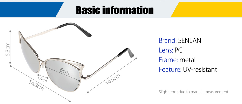 SENLAN 5808 UV-resistant Sunglasses with PC Lens