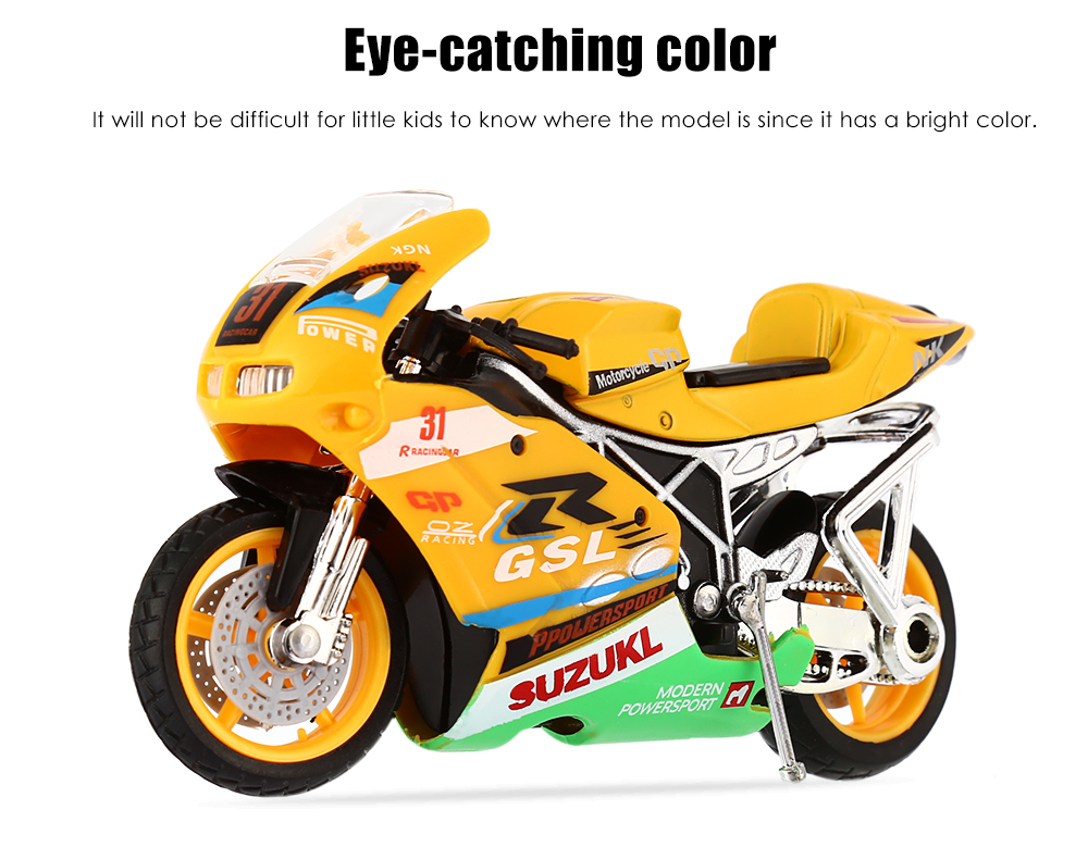 Realistic Racing Motorcycle Model with Sound Effect Shock Absorber