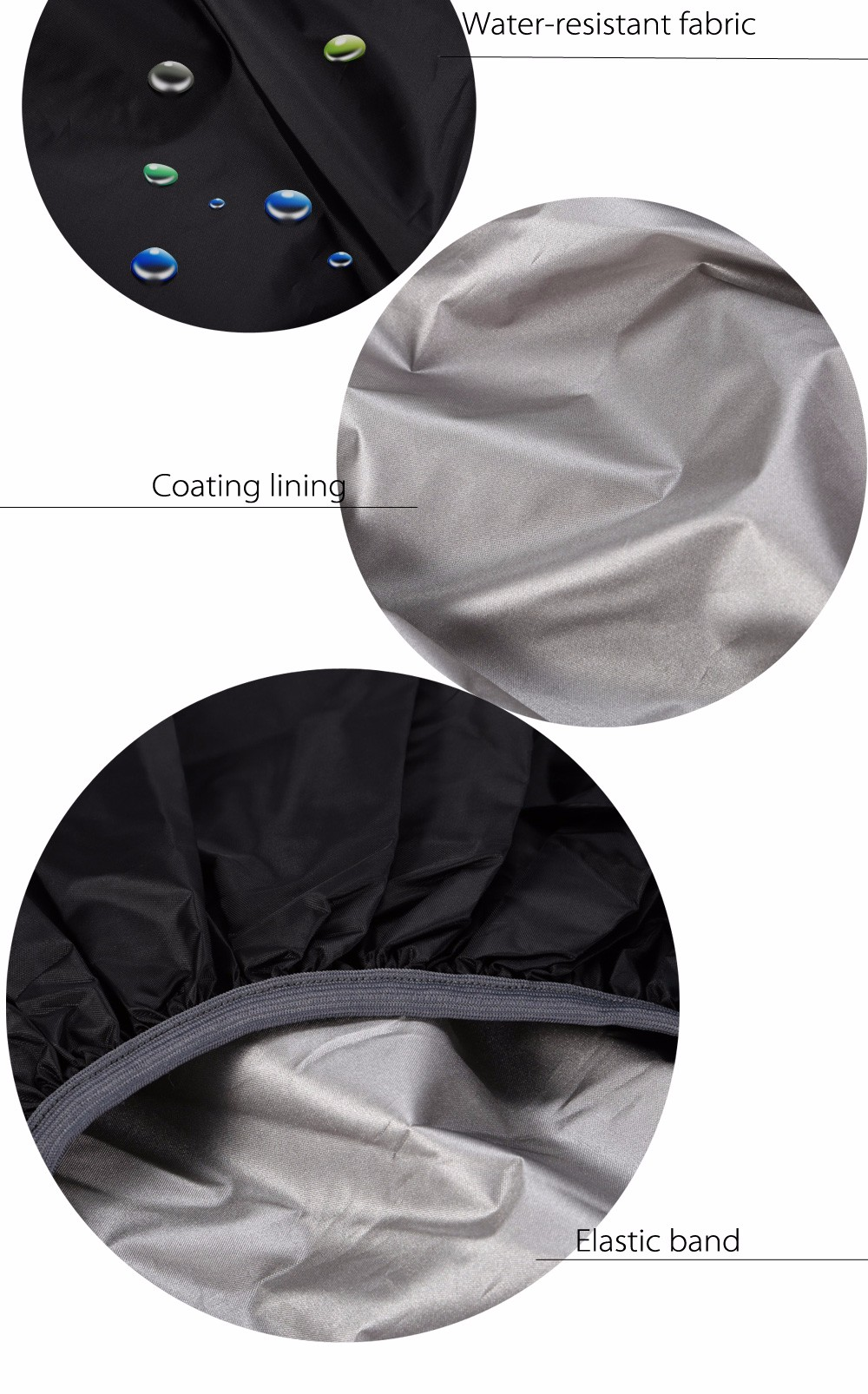 55 - 60L Dustproof Backpack Cover Water Resistant Camping Accessories