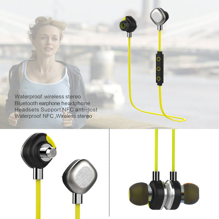 Morul U5 Plus Sport Wireless Bluetooth V4.1 In-ear Stereo Headphones Waterproof Headset with NFC Function for iPhone / Samsung / HTC Smartphones
