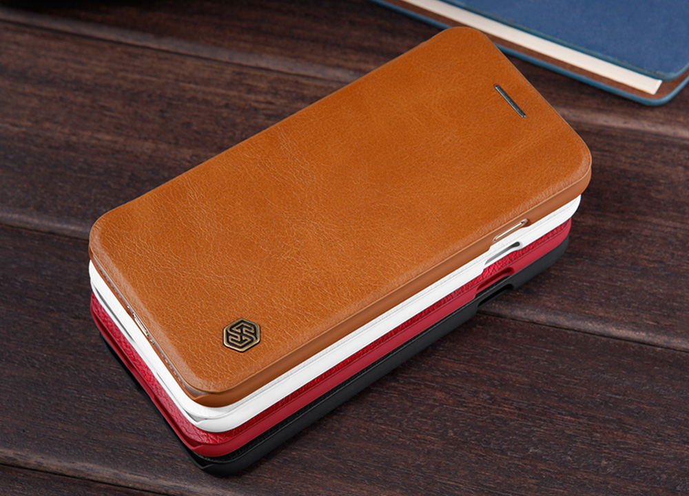 Nillkin Qin Series PU Leather Full Body Protective Phone Cover Case with Card Slot for iPhone 7