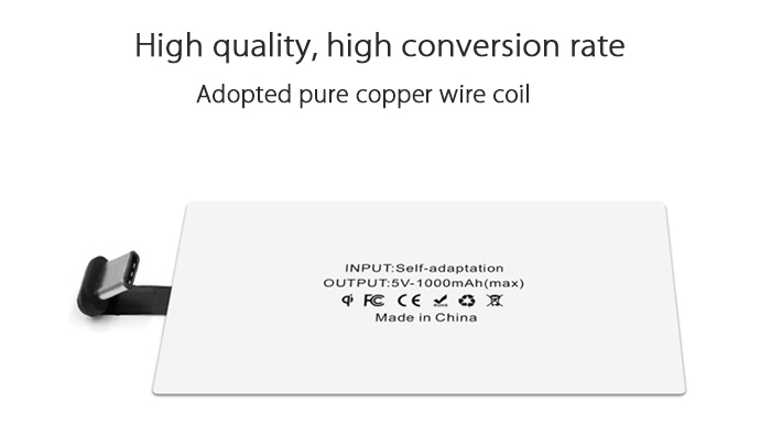 R - 05 Qi Type-C Wireless Charger Receiver Patch Acceptor