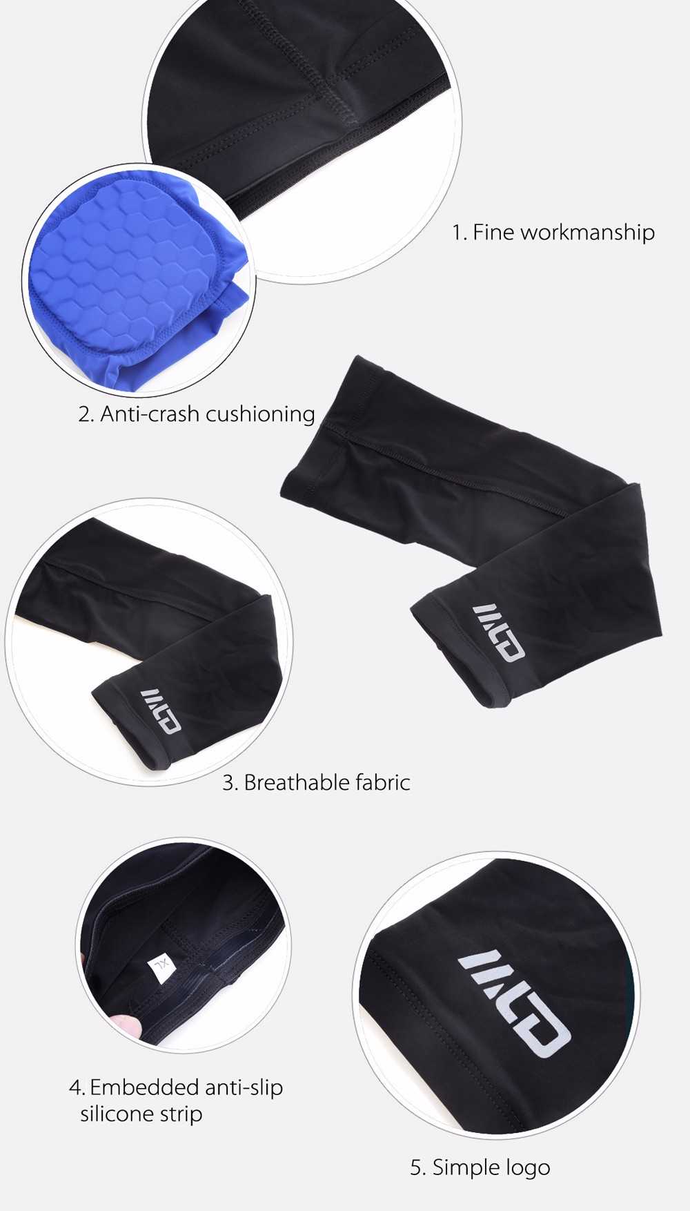 MLD LF - 1144 Honeycomb Anti-crash Elbow Support Brace for Fitness Sports