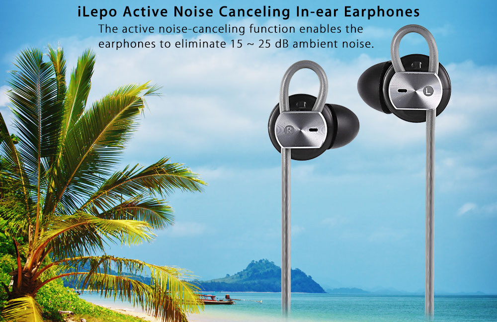 iLepo Active Noise Cancelling Wired In-ear Earphones