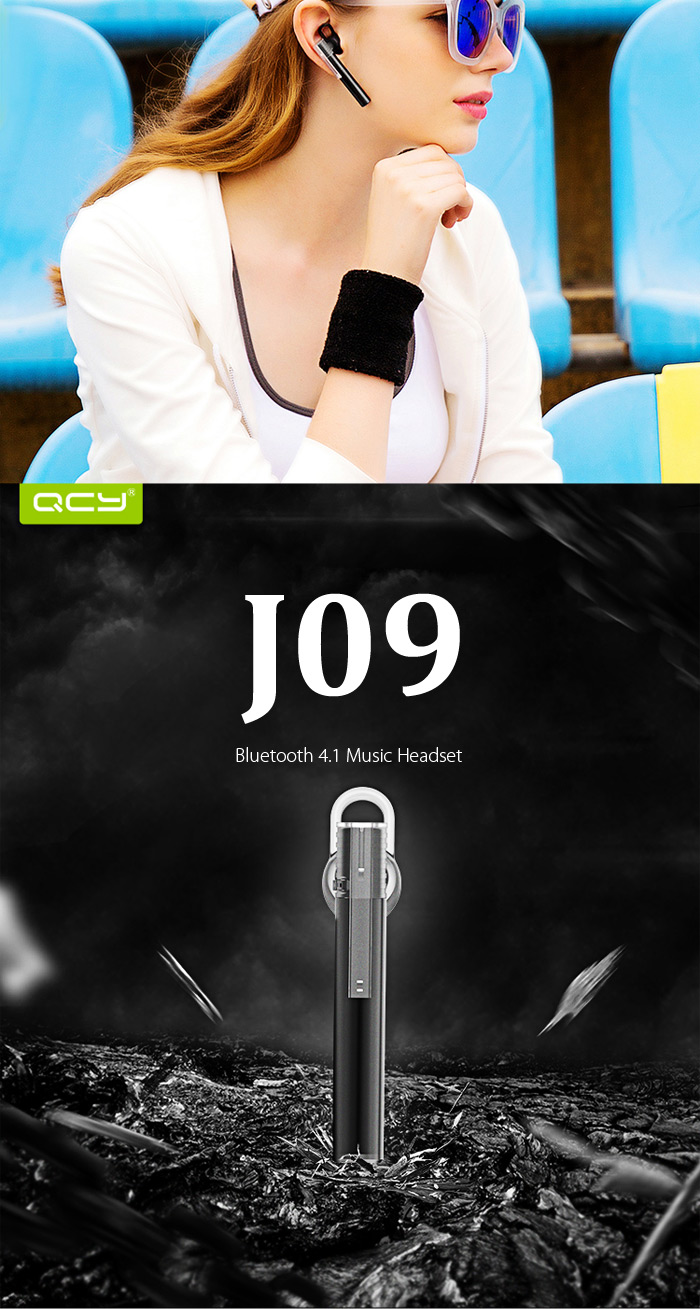 QCY J09 Mini Wireless Bluetooth 4.1 Headset Aluminum Alloy Housing with Charger