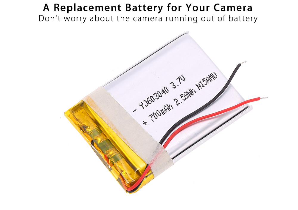 Hawkeye YJ603040 3.7V 700mAh Battery for Firefly Q6 FPV Action Camera Replacement