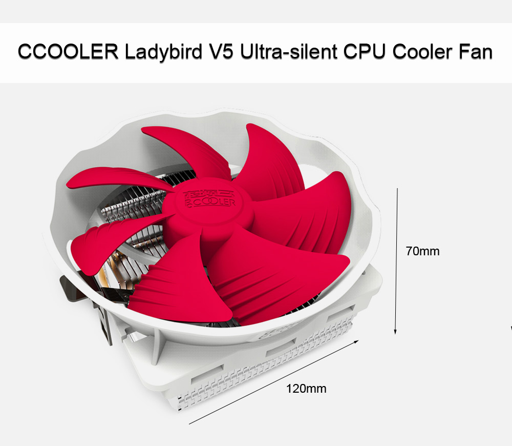 PCCOOLER Ladybird V5 CPU Cooling Fan Compatible with Intel / AMD