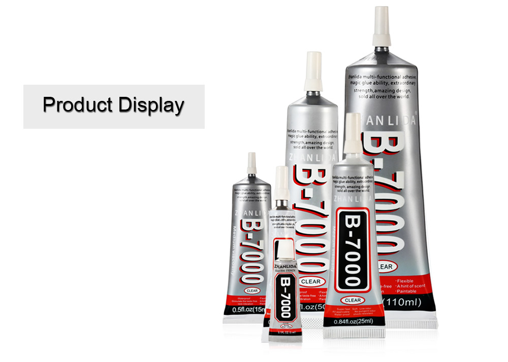 ZHANLIDA B - 7000 Glue 0.3fl.oz ( 10mL ) Multipurpose Adhesive for Toy / Jewelry / Touch Screen