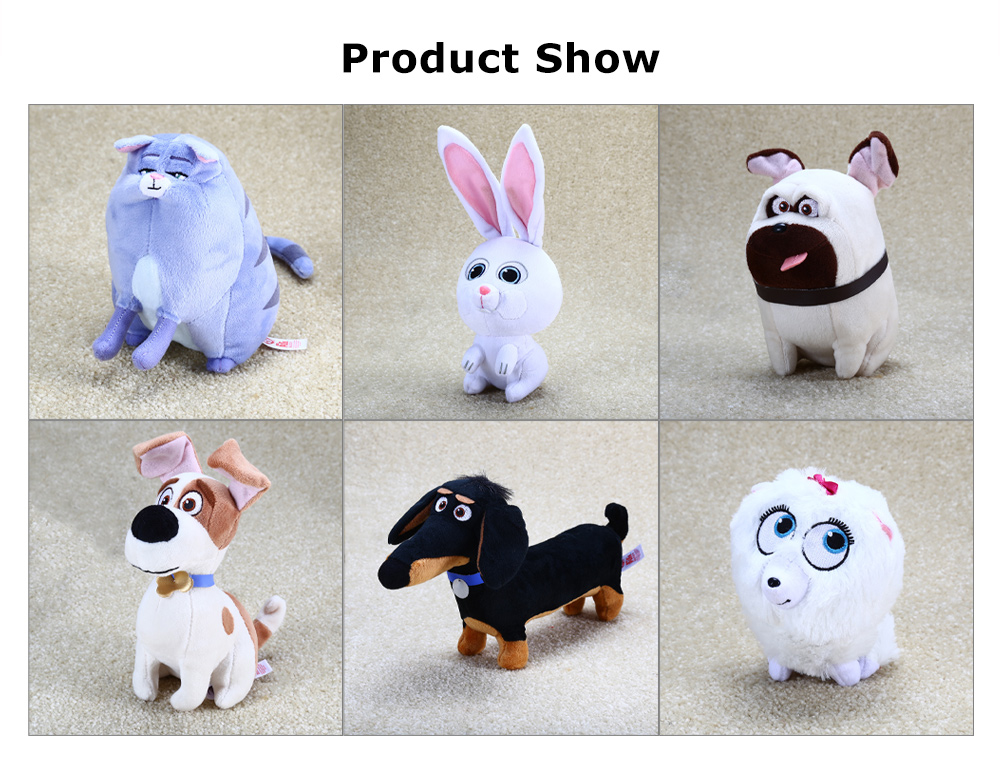 5.9 inch Anime Figure Style Plush Toy with Sling Stuffed Doll Decoration Gift