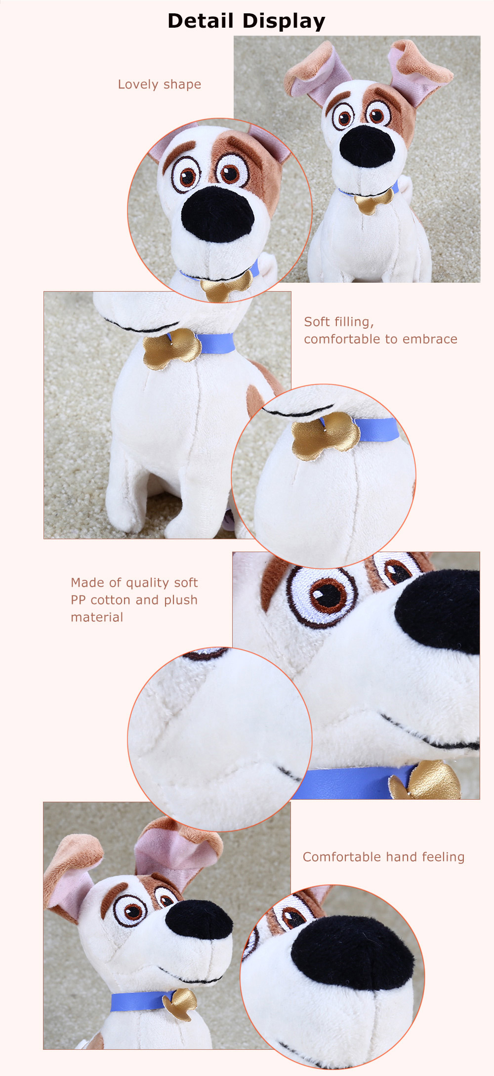 7.8 inch Anime Figure Style Plush Toy with Sling Stuffed Doll Decoration Gift