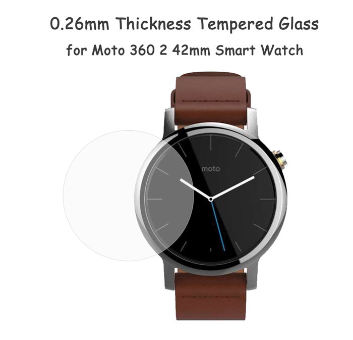 0.26mm Thickness Arc Surfaced Tempered Glass for Moto 360 2 42mm Smart Watch