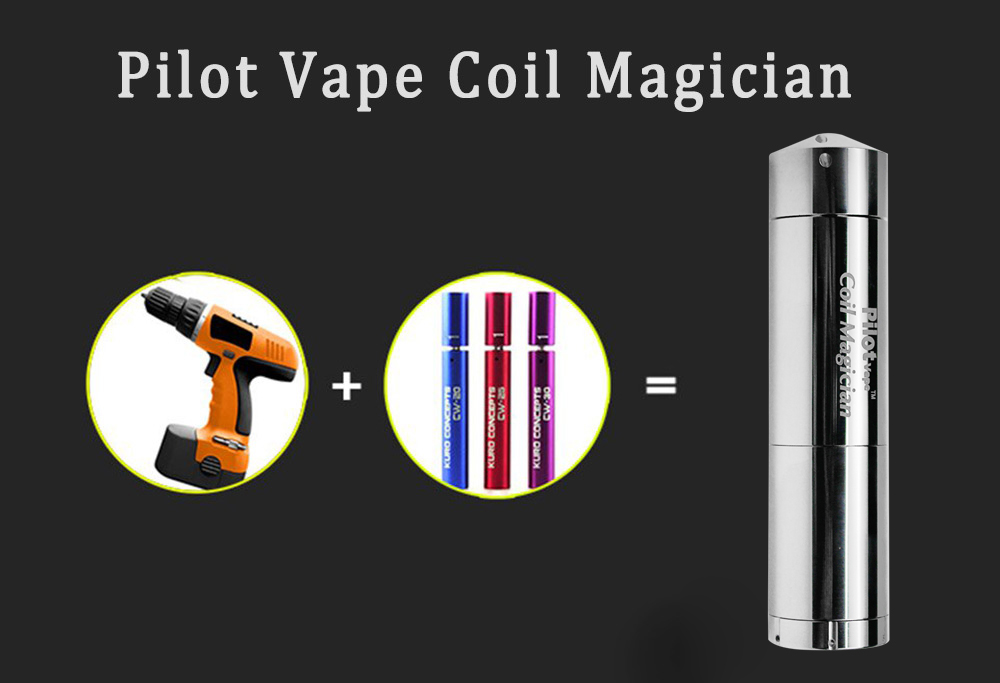 Original Pilot Vape Coil Magician Wire Coiling Jig Tool Kit with 2mm / 2.5mm / 3mm / 3.5mm Coiling Pole E Cigarette Accessory