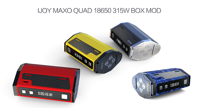 Original IJOY MAXO Quad 18650 TC Box Mod with IWEPAL Chip / 200 - 600F / 5 - 315W / Screen Rotation Function for E Cigarette