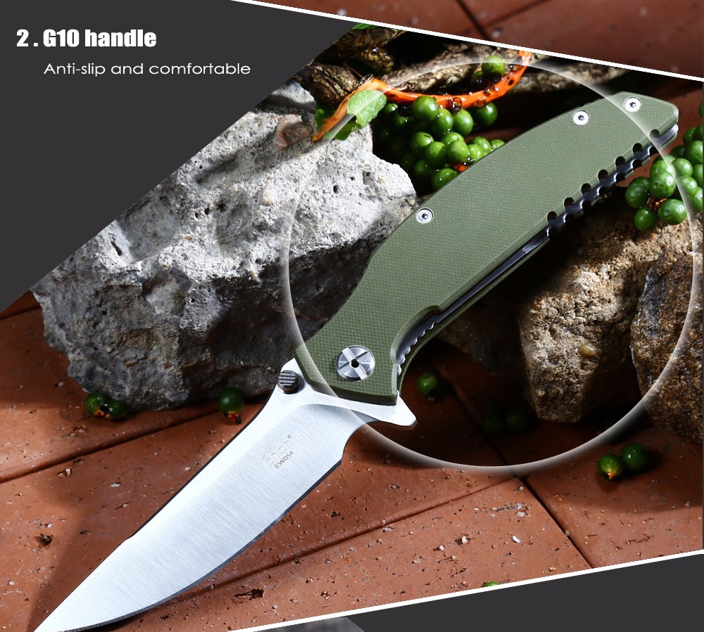 Enlan EW054 - 1 Liner Lock Foldable Knife with G10 Handle