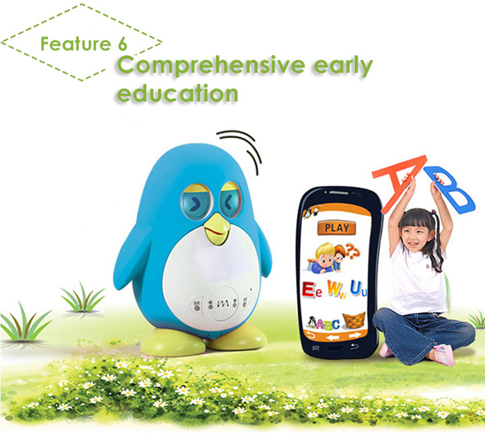 Marbo Learning Robot English iOS Android App Controlled Smart Interactive Early Learning Robotic Toy