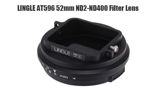 LINGLE AT596 ND2 - ND400 52mm Filter Lens for GoPro Hero 4 / 3 Plus / YI / YI 4K Action Camera