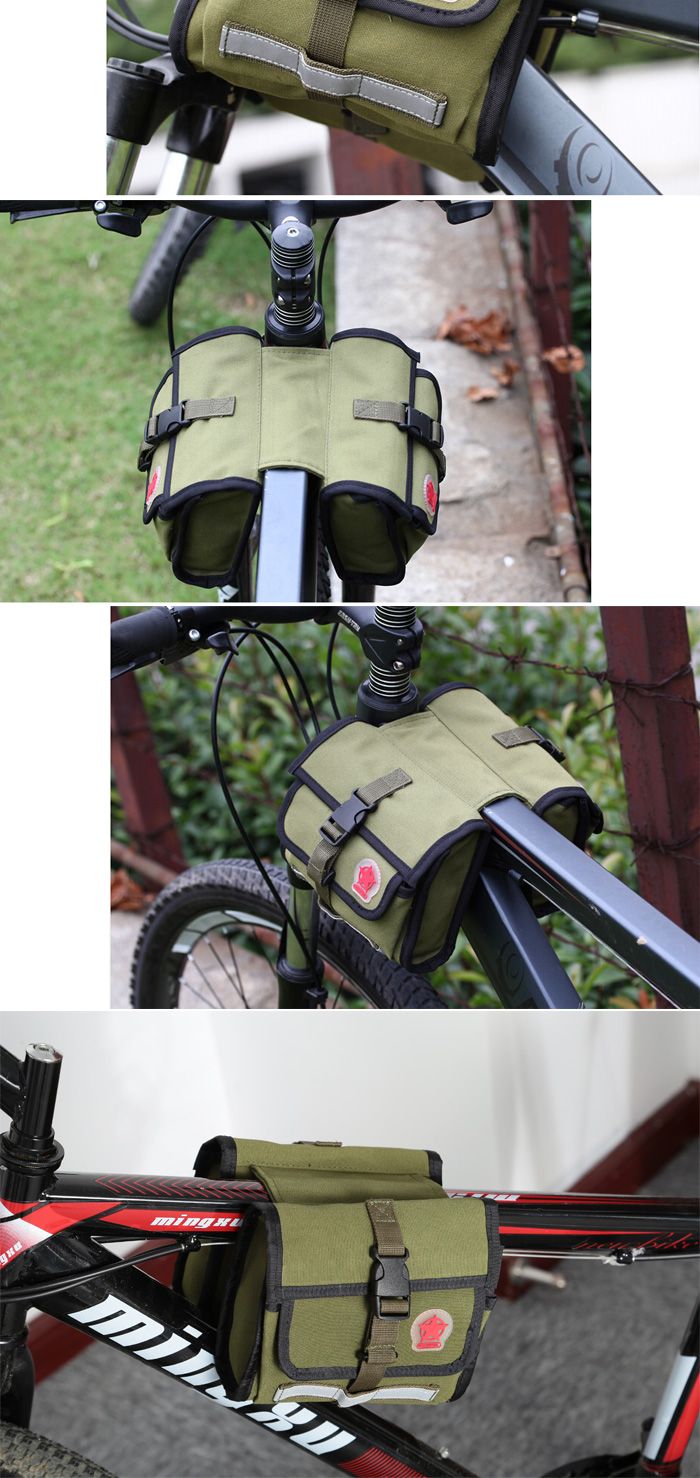 ROSWHEEL 12893 1.6L Bicycle Front Tube Bag Water Resistant Cycling Frame Pocket
