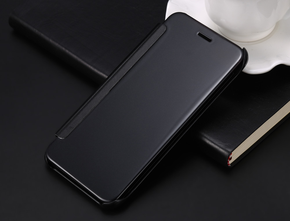 Creative Electroplated Mirror Surface Leather Full Body Phone Cover Case for iPhone 7 Flip-open Protective Mobile Shell