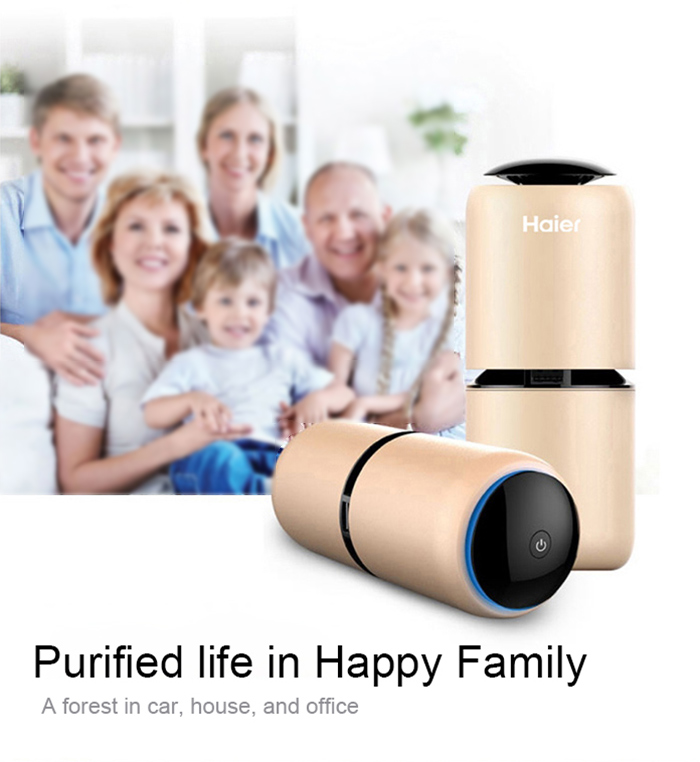 Haier KJ - R320 Multifunctional Air Purifier for Car with Double USB Interfaces Low Noise
