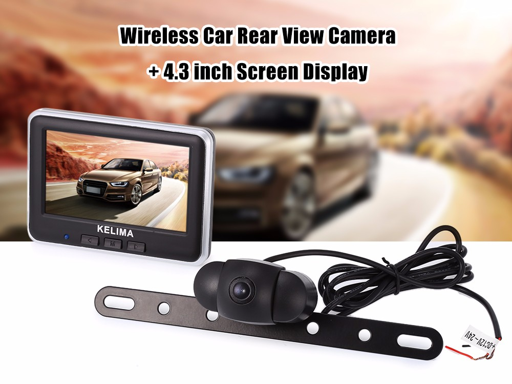 KELIMA 006 Wireless Car Rear View Camera + Wireless 4.3 inch Color LCD Screen Display
