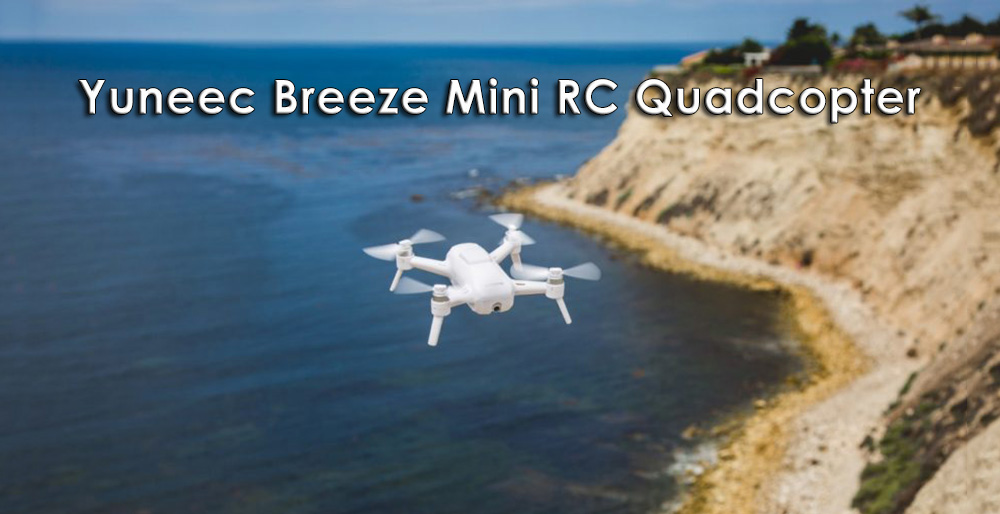 Yuneec Breeze 4K UHD 13MP Camera Mini RC Quadcopter with GPS Optical Flow Infrared Positioning