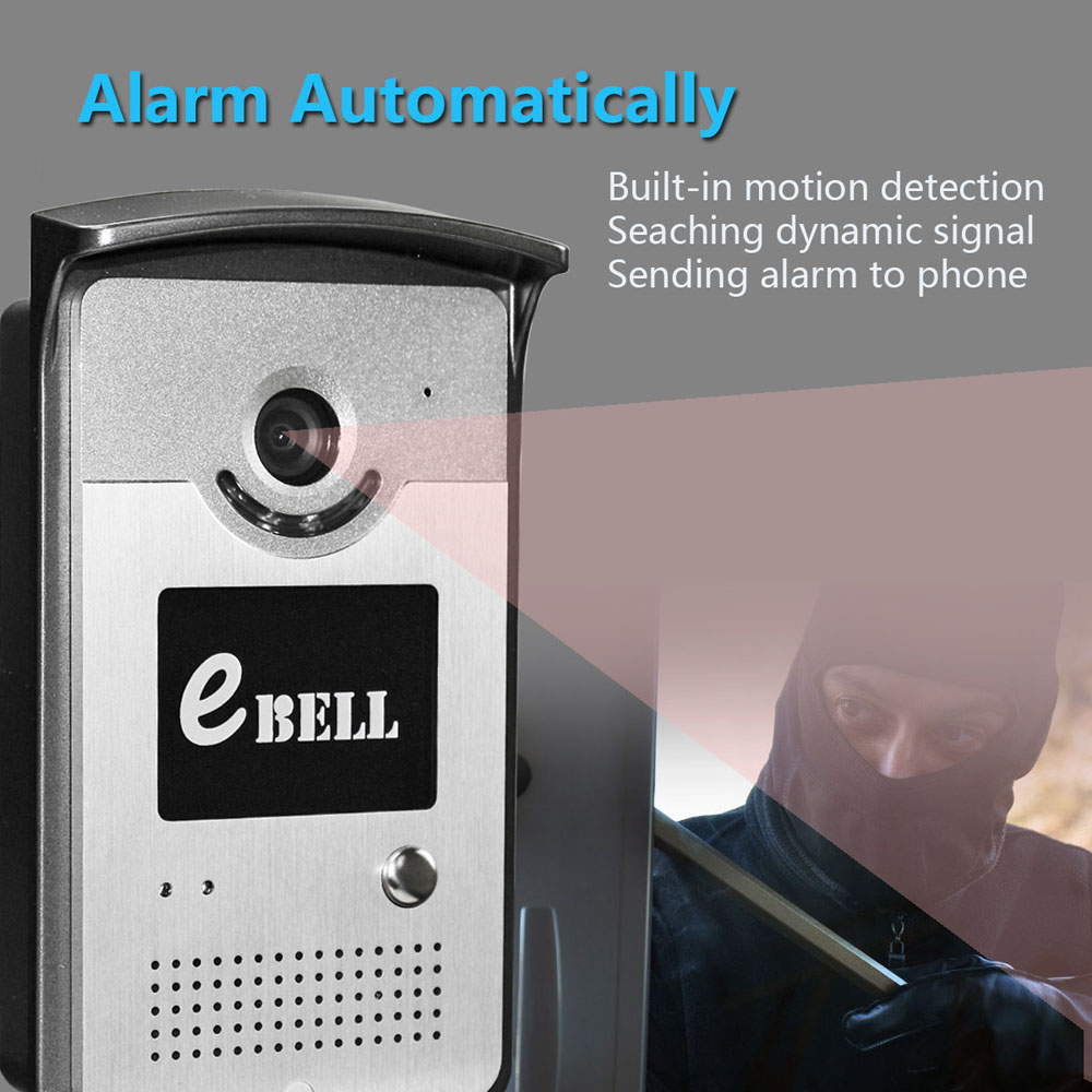 eBELL ATZ - DBV03P - 433MHz Network WiFi Doorbell 720P 1.0MP Night Vision with Indoor Chime