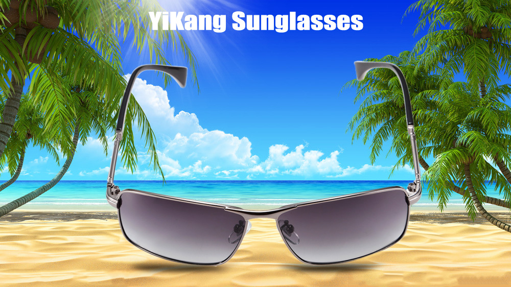 YiKang Y9206 - 139 Male Ombre Color Polarized Sunglasses with TAC Coated