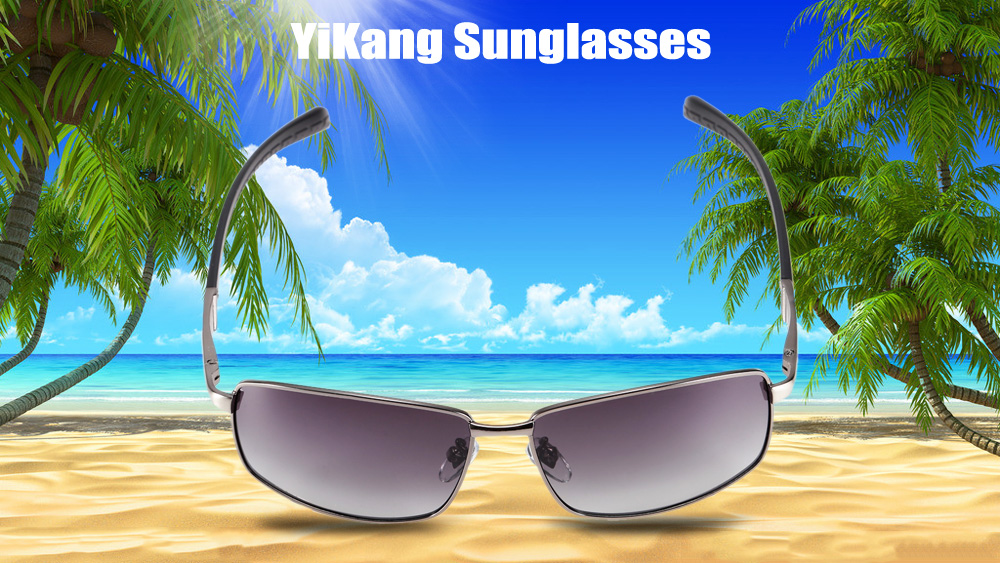 YiKang Y9219 - 136 Male Ombre Color Polarized Sunglasses with TAC Coated