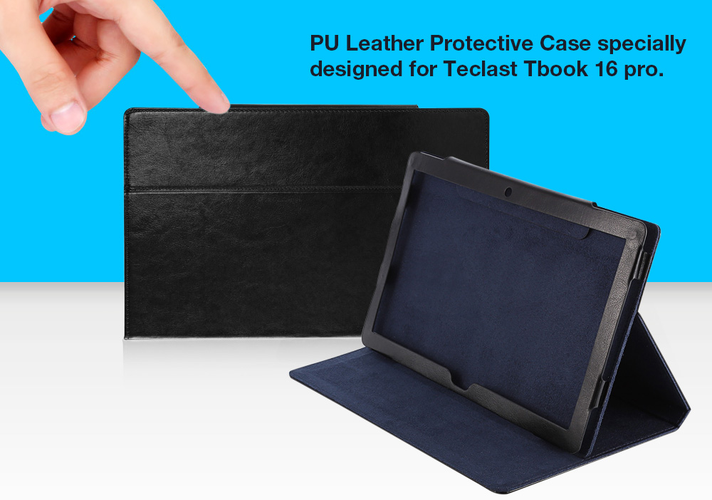 PU Leather Protective Case Anti-scratch Full Body Folding Stand Design for Teclast Tbook 16 Pro