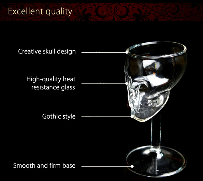 Creative Red Wine Glass Skull Design Cup