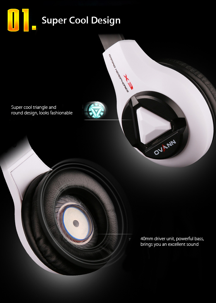 OVANN X3 Professional Gaming Headsets with Microphone Volume Control
