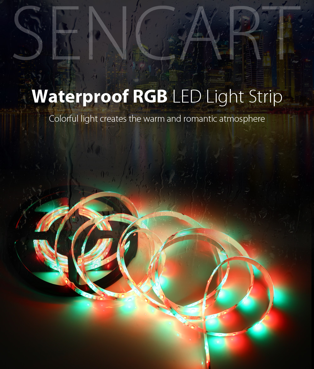 SENCART 5m 300 x SMD 5630 90W 12V RGB LED Rope Light with Remote Controller Adapter